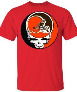 NFL Team Cleveland Browns x Grateful Dead Logo Band Men's T-Shirt