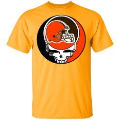 Private: NFL Team Cleveland Browns x Grateful Dead Logo Band Men's T-Shirt