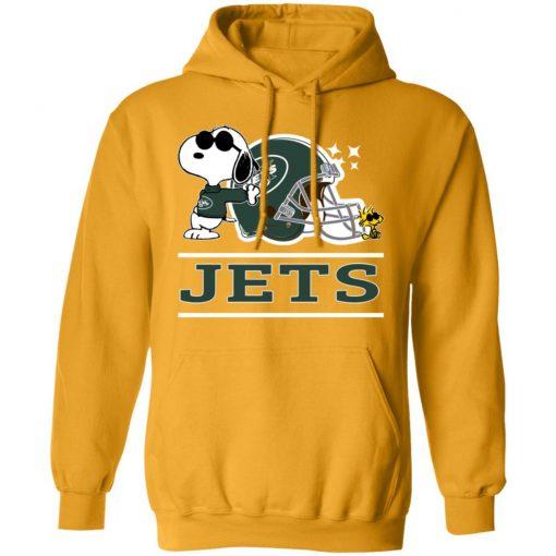 The New York Jets Joe Cool And Woodstock Snoopy Mashup Hoodie