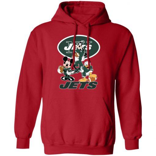 Mickey Donald Goofy The Three New York Jets Football Hoodie