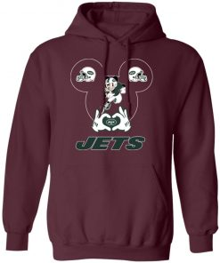 I Love The Jets Mickey Mouse New York Jets Hoodie