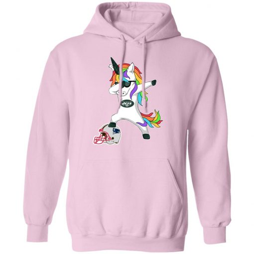 Football Dabbing Unicorn Steps On Helmet New York Jets Hoodie