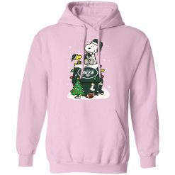 A Happy Christmas With New York Jets Snoopy Hoodie