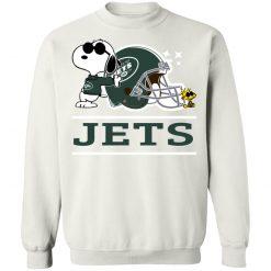 The New York Jets Joe Cool And Woodstock Snoopy Mashup Sweatshirt