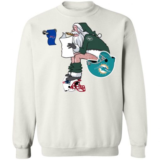 Santa Claus New York Jets Shit On Other Teams Christmas Sweatshirt