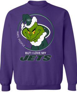 I Hate People But I Love My New York Jets Grinch NFL Sweatshirt
