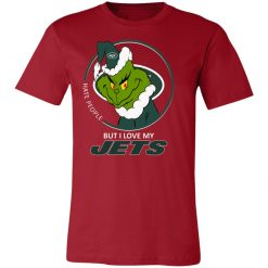 I Hate People But I Love My New York Jets Grinch NFL Unisex Jersey Tee