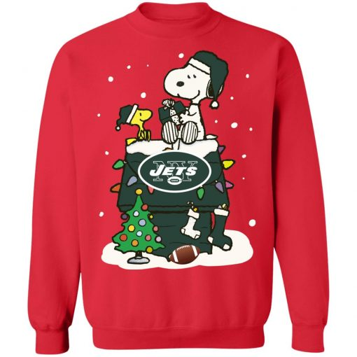 A Happy Christmas With New York Jets Snoopy Sweatshirt