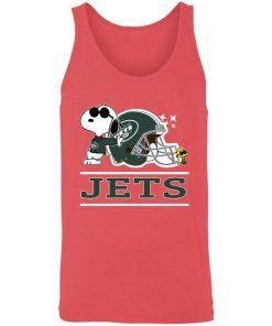 The New York Jets Joe Cool And Woodstock Snoopy Mashup Unisex Tank