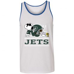 The New York Jets Joe Cool And Woodstock Snoopy Mashup Unisex Tank