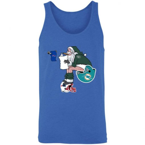 Santa Claus New York Jets Shit On Other Teams Christmas Unisex Tank