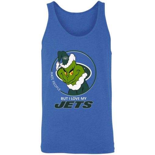 I Hate People But I Love My New York Jets Grinch NFL Unisex Tank