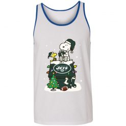 A Happy Christmas With New York Jets Snoopy Unisex Tank