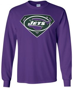 We Are Undefeatable The New York Jets x Superman NFL Youth LS T-Shirt