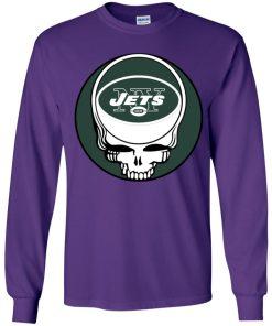 NFL Team New York Jets x Grateful Dead Logo Band Youth LS T-Shirt