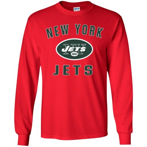 New York Jets NFL Pro Line by Fanatics Branded Vintage Victory Youth LS T-Shirt