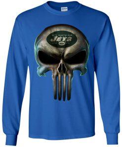 New York Jets The Punisher Mashup Football Youth LS T-Shirt