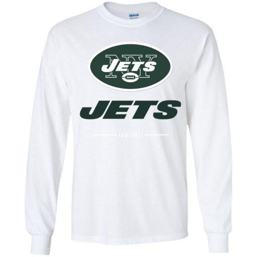 Men's new york jets NFL Pro Line Black Team Lockup Youth LS T-Shirt