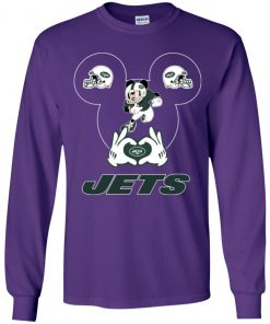 I Love The Jets Mickey Mouse New York Jets Youth LS T-Shirt