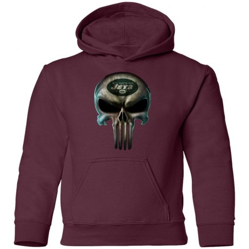 New York Jets The Punisher Mashup Football Youth Hoodie