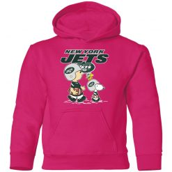 New York Jets Let's Play Football Together Snoopy NFL Youth Hoodie