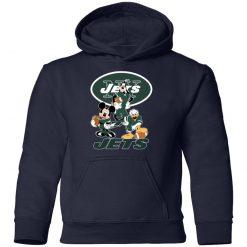 Mickey Donald Goofy The Three New York Jets Football Youth Hoodie