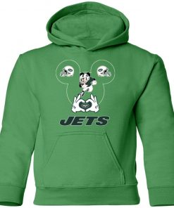 I Love The Jets Mickey Mouse New York Jets Youth Hoodie