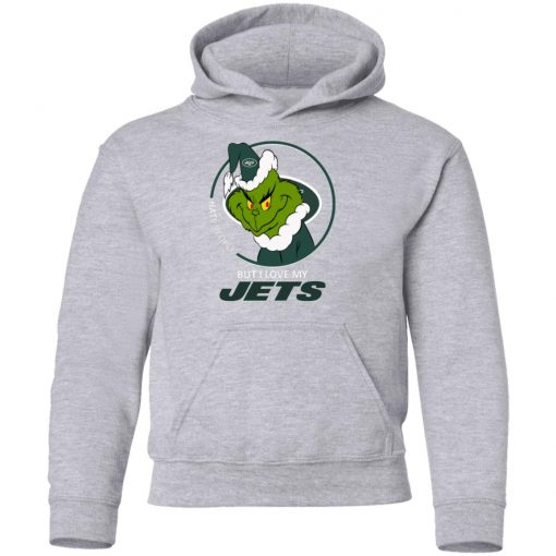 I Hate People But I Love My New York Jets Grinch NFL Youth Hoodie