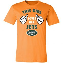 This Girl Loves Her New York Jets Unisex Jersey Tee