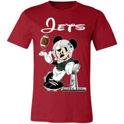 Mickey Jets Taking The Super Bowl Trophy Football Unisex Jersey Tee
