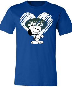 I Love New York Jets Snoopy In My Heart NFL Unisex Jersey Tee