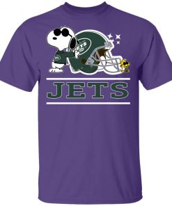 The New York Jets Joe Cool And Woodstock Snoopy Mashup Men's T-Shirt