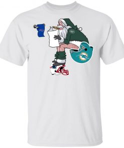 Santa Claus New York Jets Shit On Other Teams Christmas Men's T-Shirt