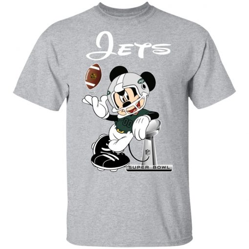 Mickey Jets Taking The Super Bowl Trophy Football Men's T-Shirt