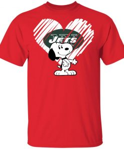 I Love New York Jets Snoopy In My Heart NFL Men's T-Shirt