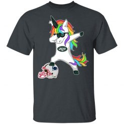 Football Dabbing Unicorn Steps On Helmet New York Jets Men's T-Shirt