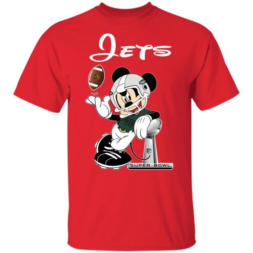 Mickey Jets Taking The Super Bowl Trophy Football Youth T-Shirt