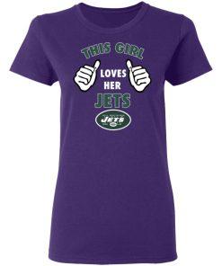 This Girl Loves Her New York Jets Women's T-Shirt