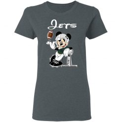 Mickey Jets Taking The Super Bowl Trophy Football Women's T-Shirt