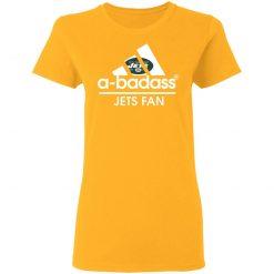 A-Badass New York Jets Mashup Adidas NFL Women's T-Shirt