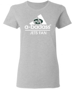 A-Badass New York Jets Mashup Adidas NFL Women's T-Shirt