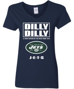 A True Friend Of The New York Jets V-Neck T-Shirt