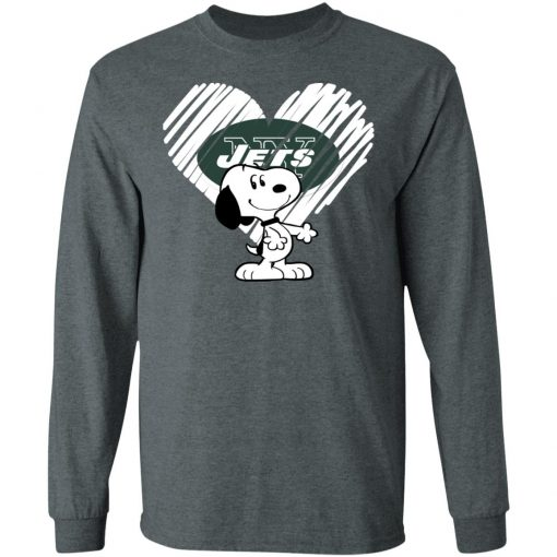 I Love New York Jets Snoopy In My Heart NFL LS T-Shirt