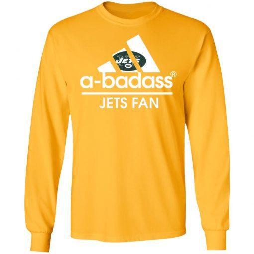 A-Badass New York Jets Mashup Adidas NFL LS T-Shirt