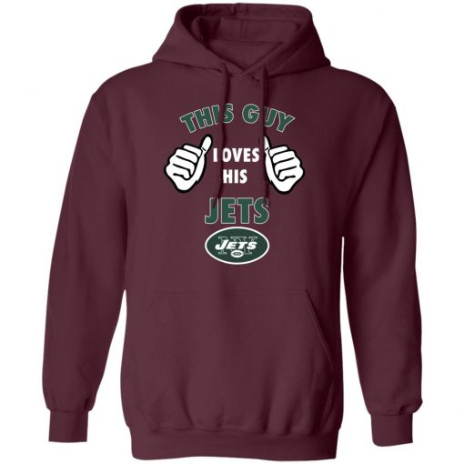 This Guy Loves His New York Jets Hoodie