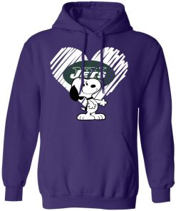 I Love New York Jets Snoopy In My Heart NFL Hoodie