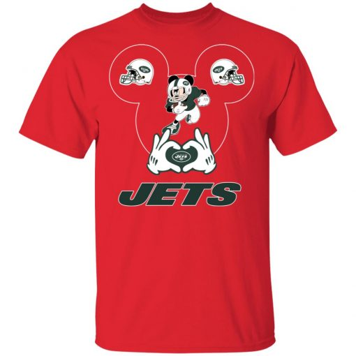 I Love The Jets Mickey Mouse New York Jets Men's T-Shirt