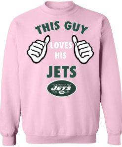 This Guy Loves His New York Jets Sweatshirt