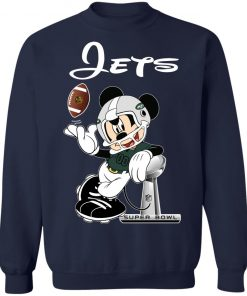 Mickey Jets Taking The Super Bowl Trophy Football Sweatshirt