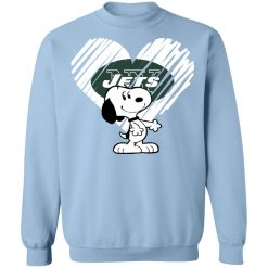 I Love New York Jets Snoopy In My Heart NFL Sweatshirt